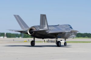 F-35 Combat jet on the runway.